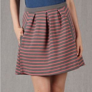 Boden Lexington striped  pleated skirt